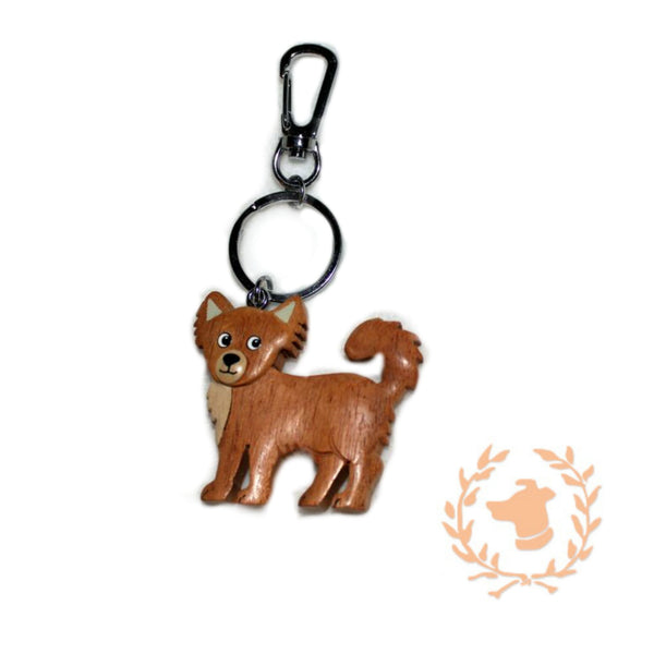 Keychain - Long Hair Chihuahua - Dog Keychain