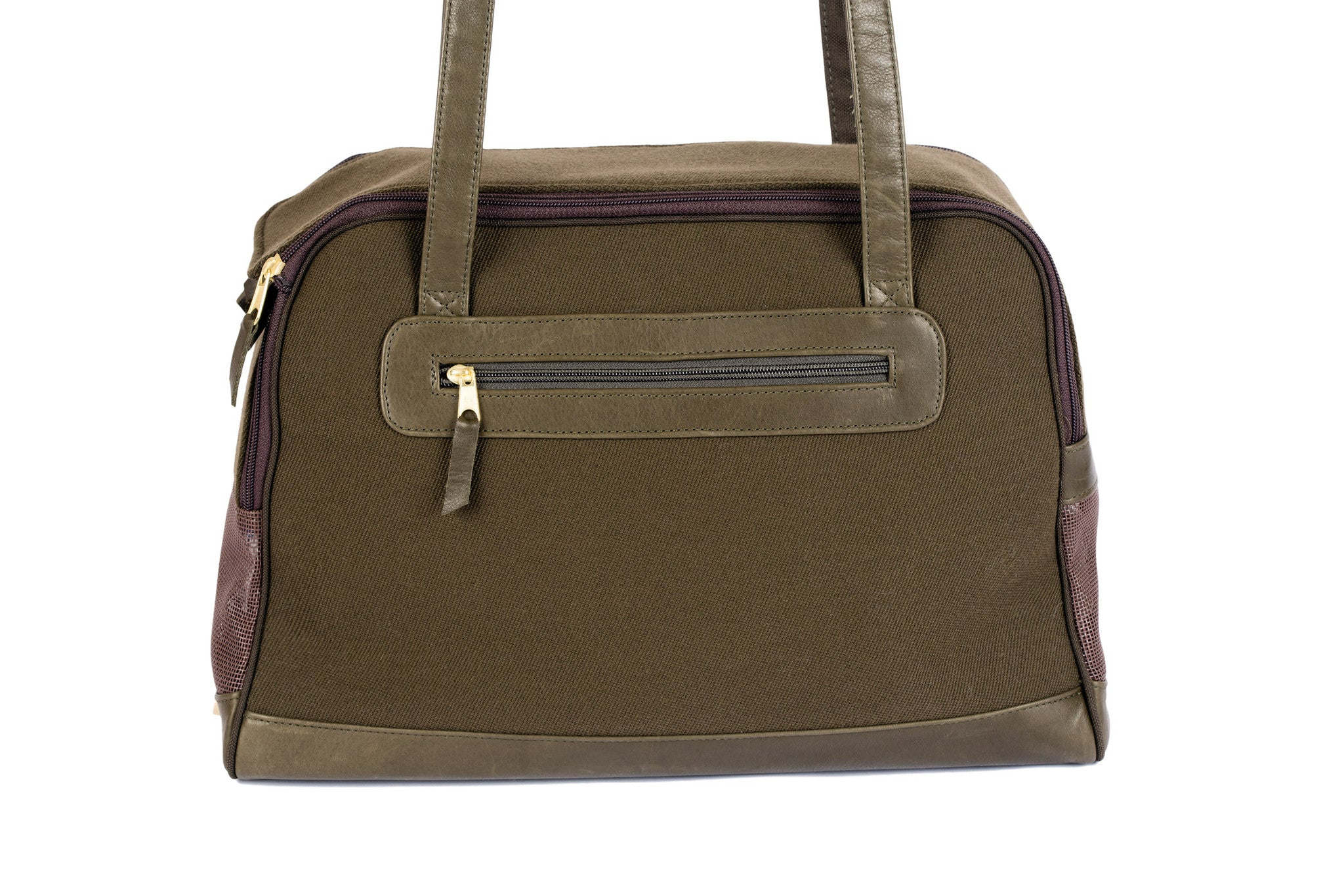 Dog Carrier - Cashmere/Wool Blend w/ Leather Straps - 4 Color Options