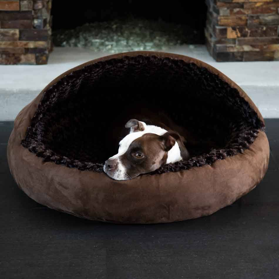 Katie Puff - Hooded Dog Bed by Animals Matter - 2 Color Options - Custom Bed
