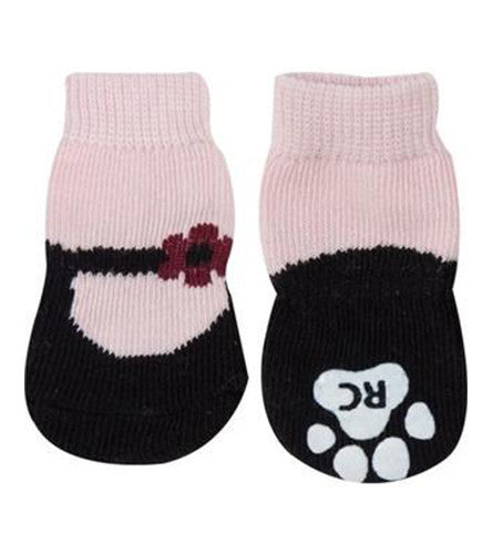 Anti-slip | Sport Socks | Dog Boot | Dog Socks | Pink MaryJane