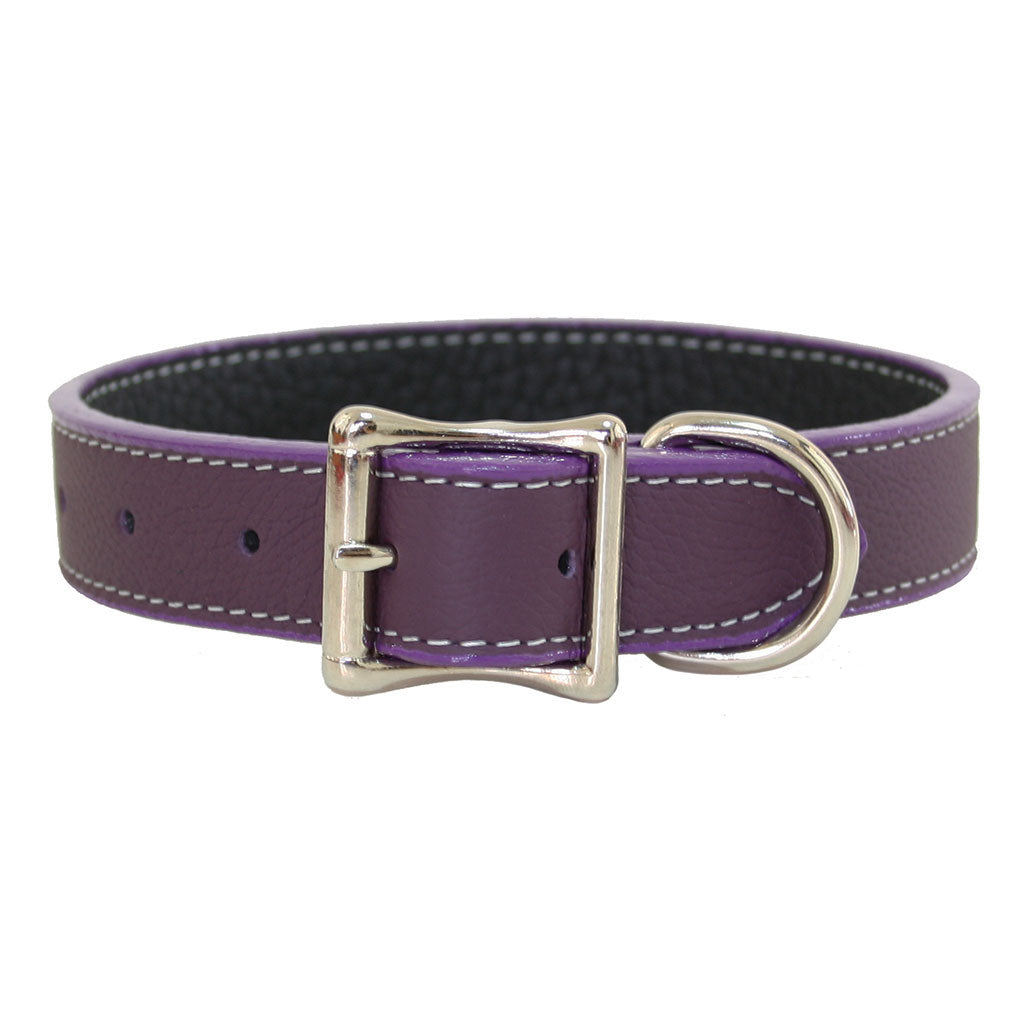 """A"" Dog Collar - Dog Collar, Soft Leather, 10 Colors"