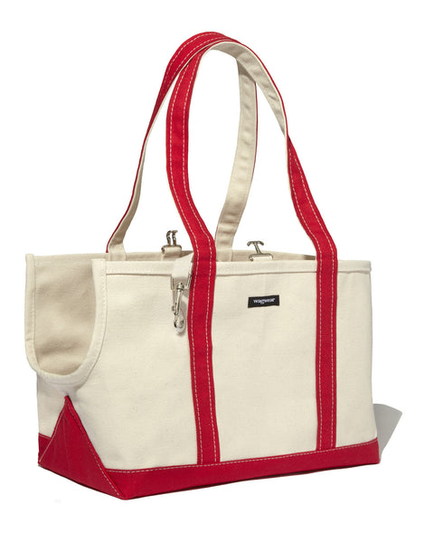 Dog Carrier - White Canvas - Open Summer Dog Bag - 6 Color Options