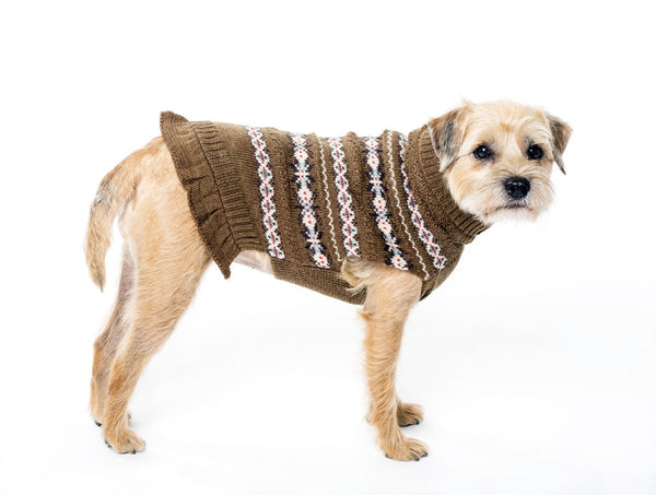 Skirted Ruffle Sweater - Wool Dog Sweater