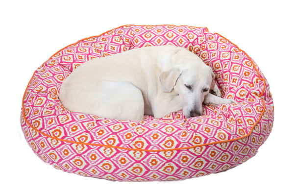 Canine Styles - Moroccan Pink - Nesting Bed - Dog Bed