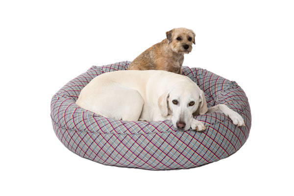 Canine Styles - San Marco Purple - Milano Plaid - 2 Color Options - Dog Beds