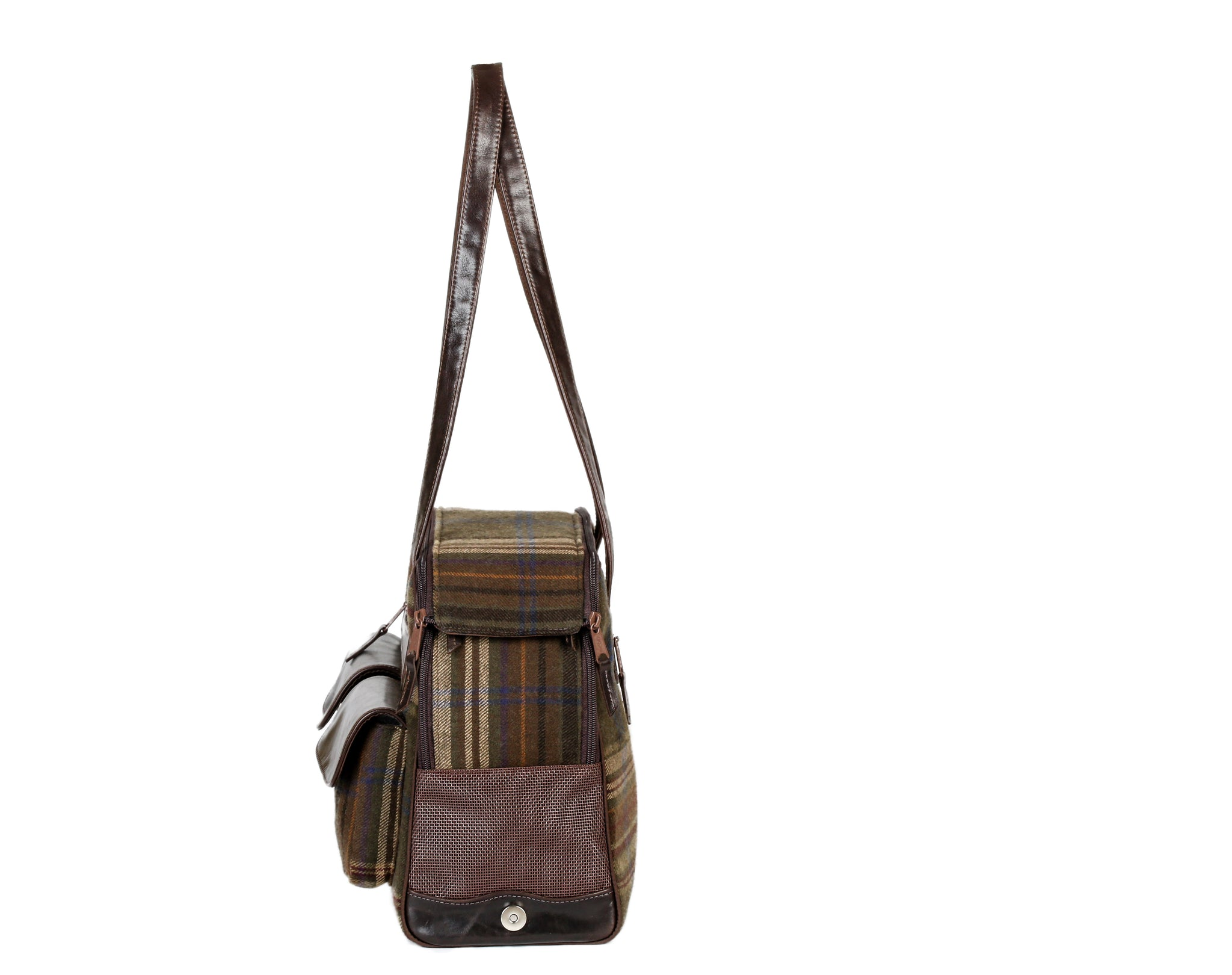 Fall - Dog Carrier - Cashmere Loden Plaid