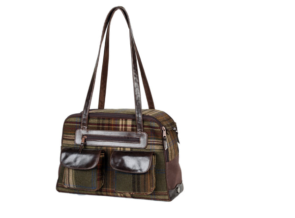 Dog Carrier - Cashmere Loden Plaid