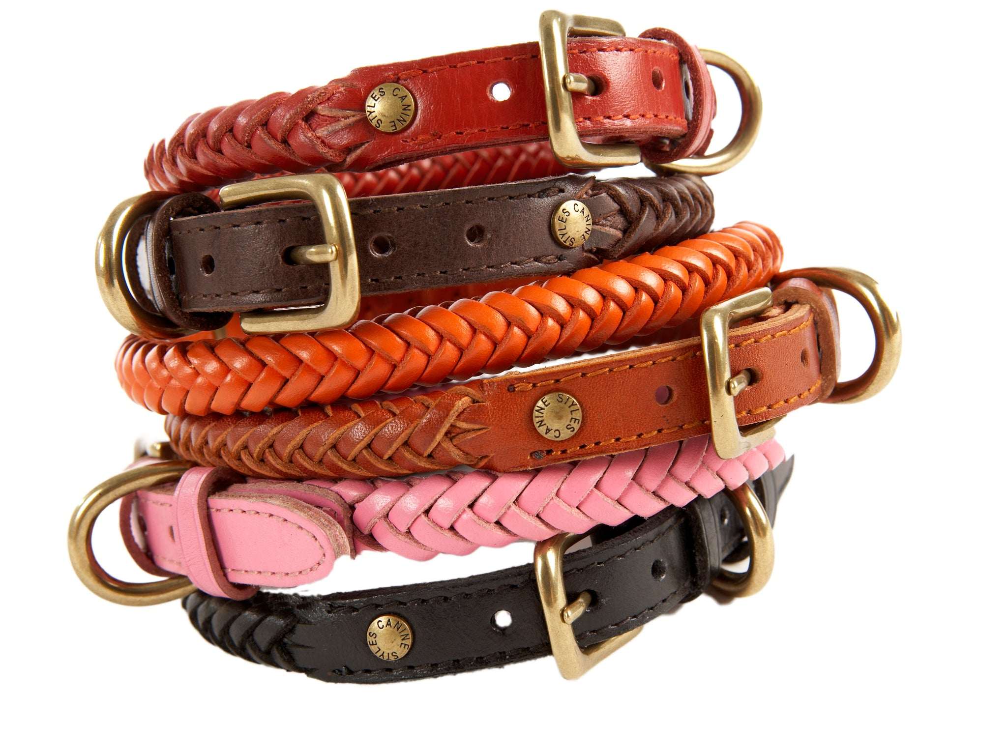Braided Leather - Dog Collar - Harnesses - Dog Lead | 6 Color Options