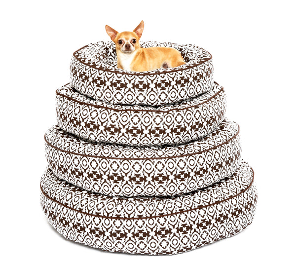 Canine Styles - Cotton Canvas - Brown Watermill - Dog Bed