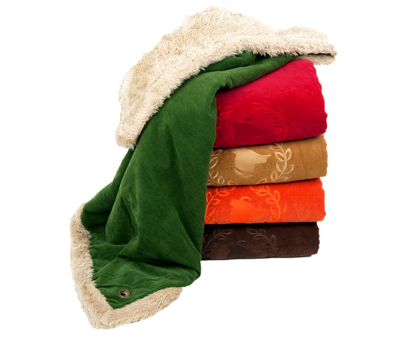 Canine Styles - Dog Blanket - Corduroy w/Faux Fur Lining - 2 Color Options