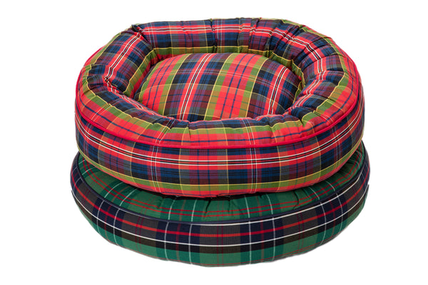 Canine Styles - Green Tartan - Red Tartan - Nesting Bed - Dog Bed