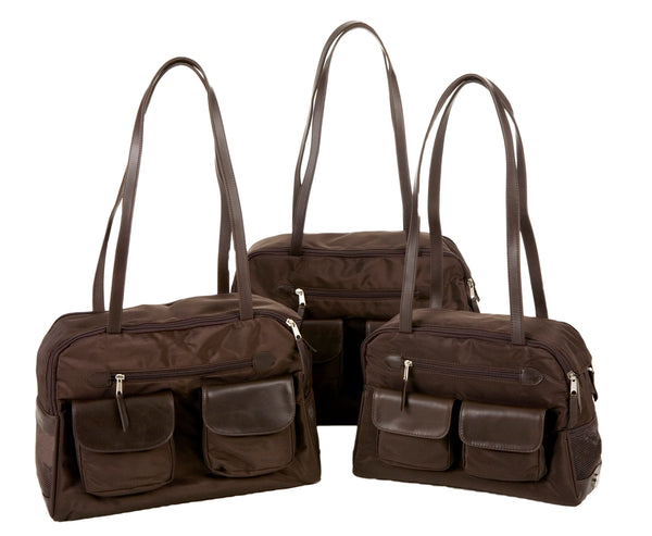 Dog Carrier - Cargo Carrier - Brown Nylon -#1 Year Round Lightweight