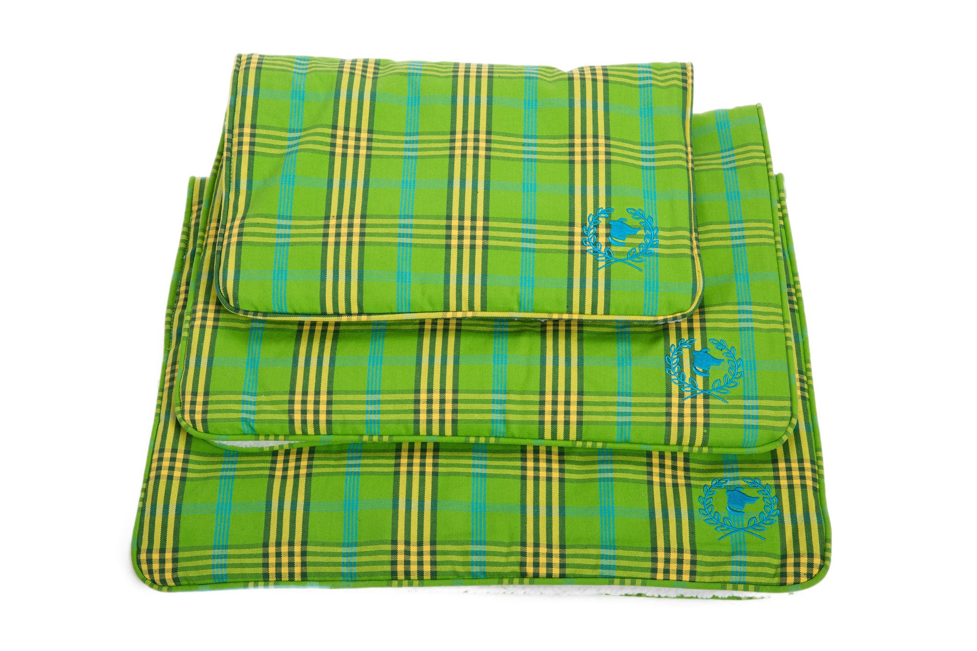 Canine Styles - Crate Mat - Signature Green Plaid - Dog Bed