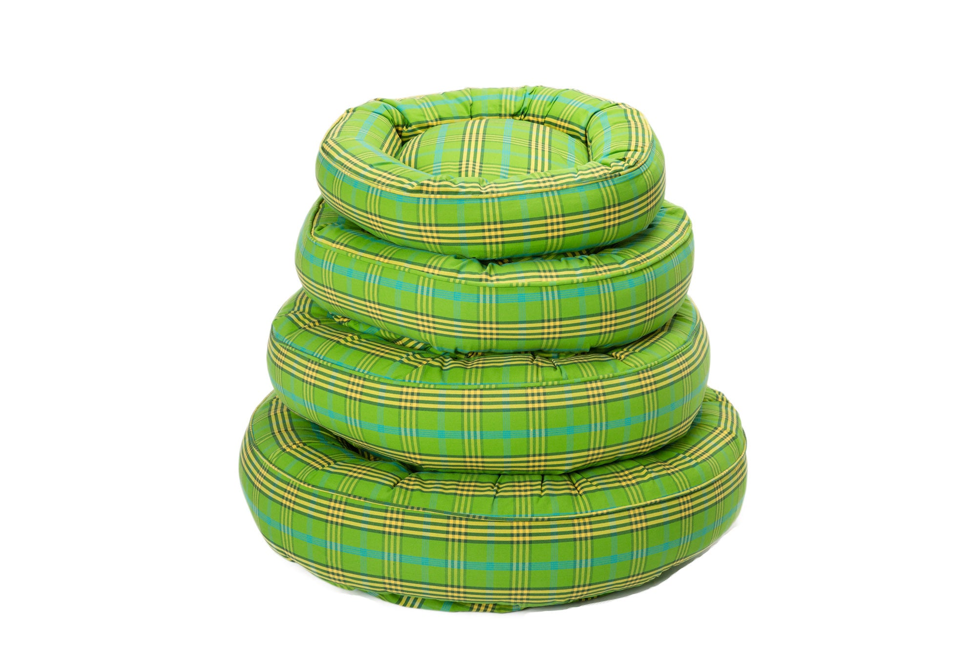 Canine Styles - Cotton Canvas - Signature Green Plaid - Dog Bed