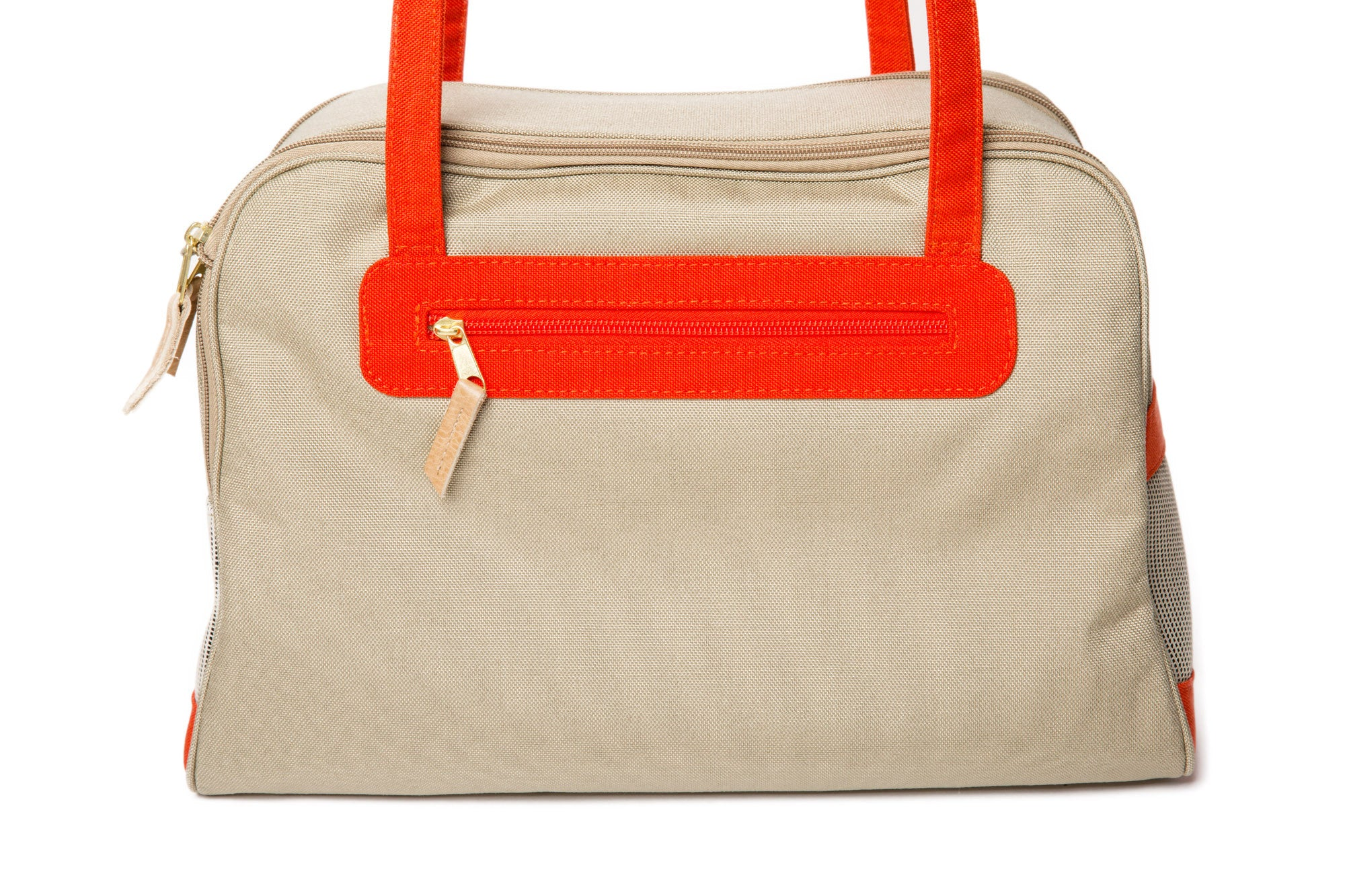 Colored Canvas Trim with Natural Canvas Carrier