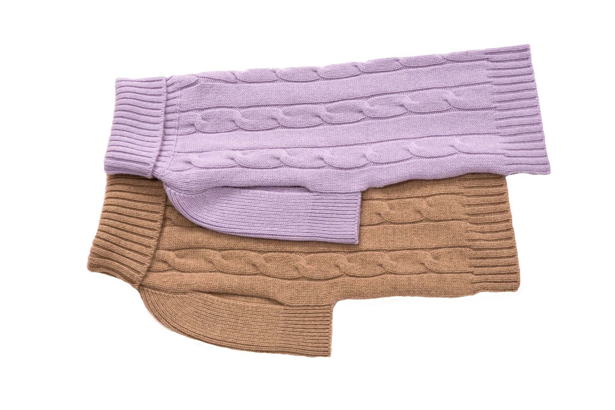 Cashmere Dog Solid Sweater - Lavender & Oatmeal