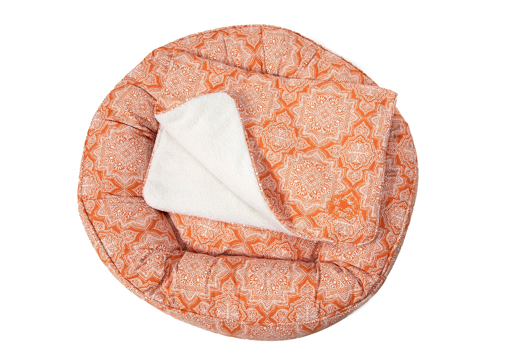 Canine Styles - Cotton Canvas - Curacao Orange - Dog Bed