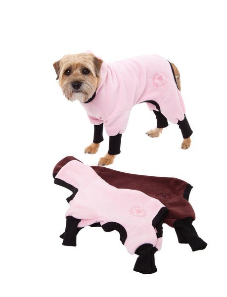 Track Suit - Polar Fleece - Four-Legged - 2 Color Options - Light Pink & Brown