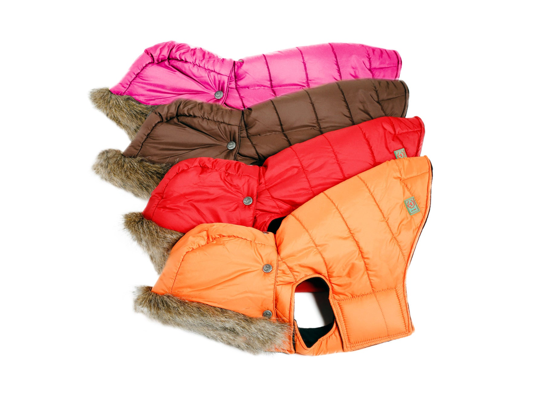 Hooded Parka, Pink, Red, Orange, Brown - Aspen Collection