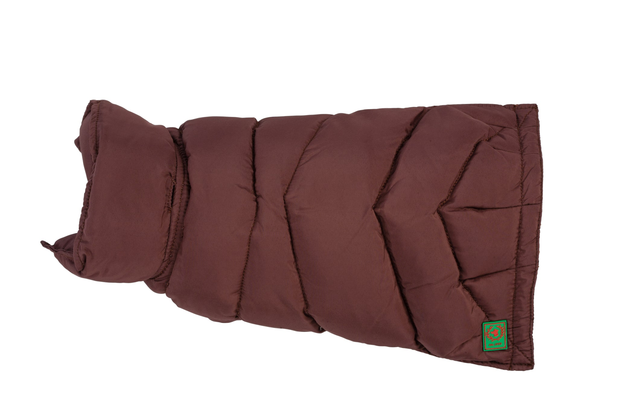 Goose Down Puffer Coat  Brown & Cranberry