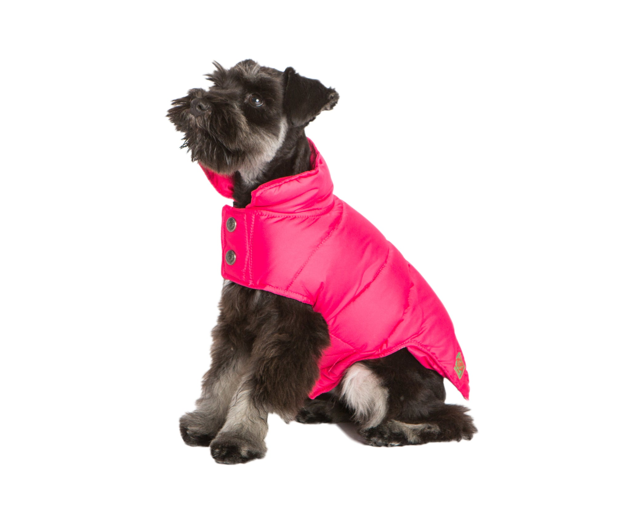 Down Puffer Coat  Hot Pink & Navy