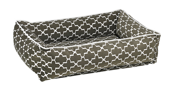 Lounger - Microvelvet - Graphite Lattice - Dog Bed