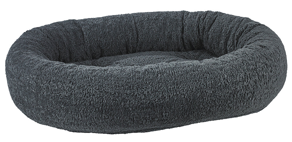 Microvelvet - Donut Bed - Grey Sheepskin Pattern - Dog Bed