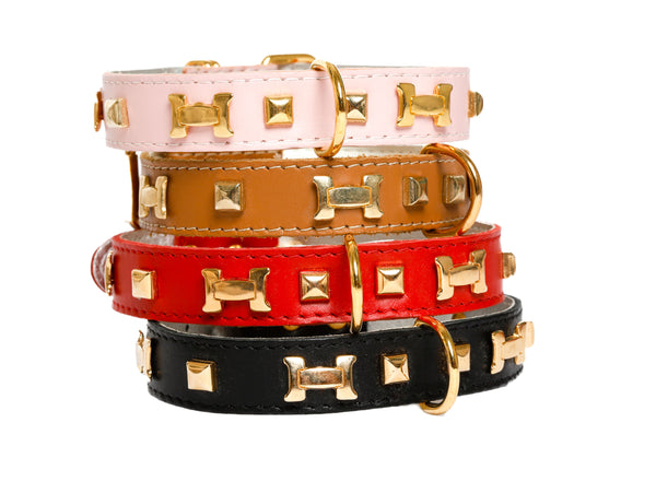 """H"" Dog Collar - French Dog Collar, 6 Color Options"
