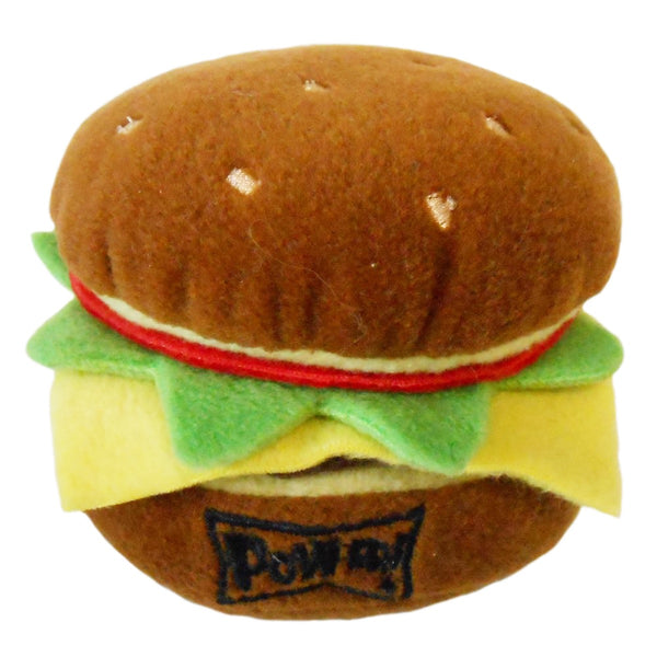 Hamburger Toy - Plush Toy - Squeaker Toy