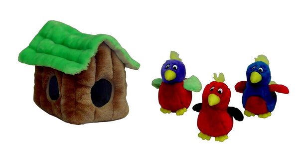 Plush Toy - Hide-A-Bird - Dog Toy - Puzzle Toy - Interactive Toy