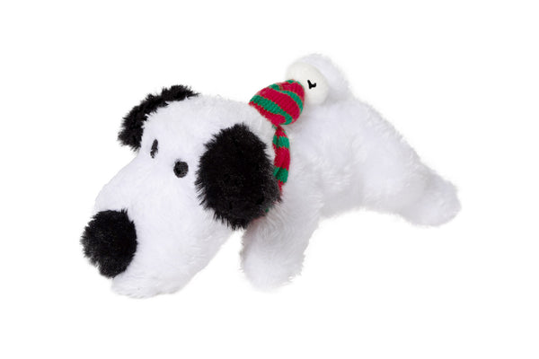 Holiday Dog Toy - Plush White Dog