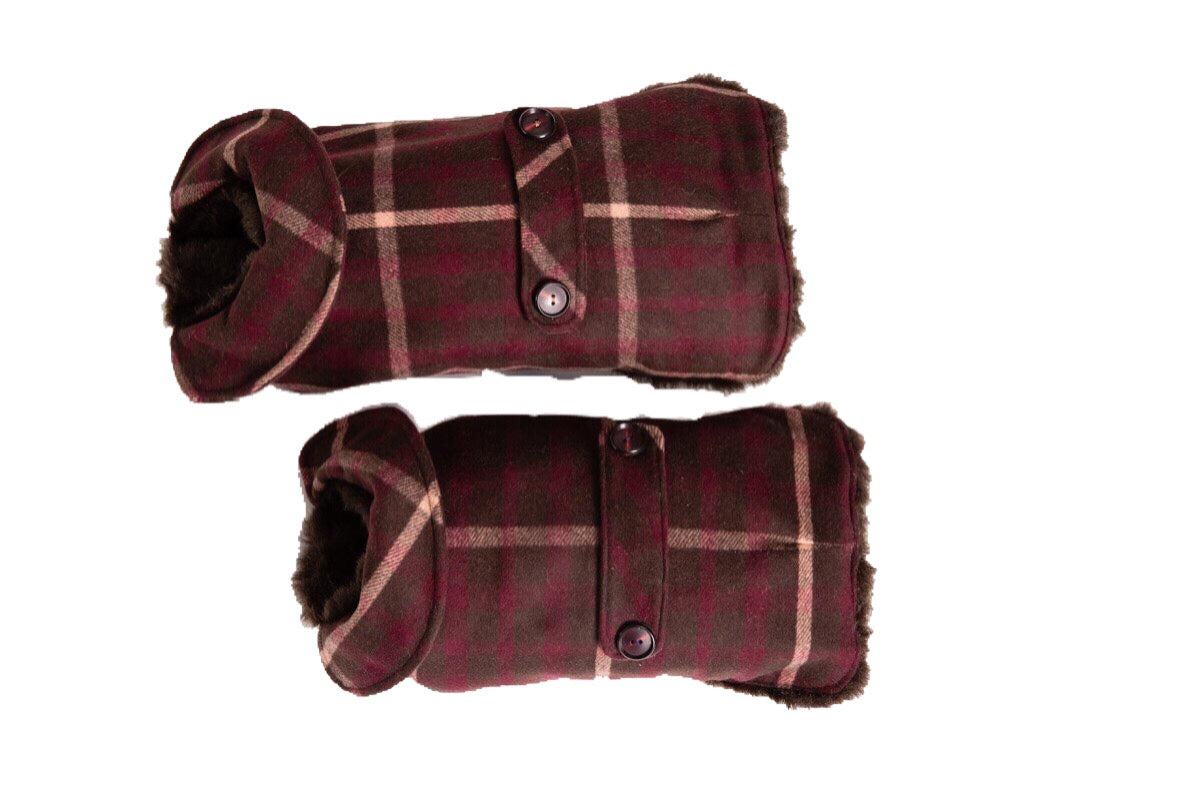 Couture Wool - Brown & Pink  Dog Coat