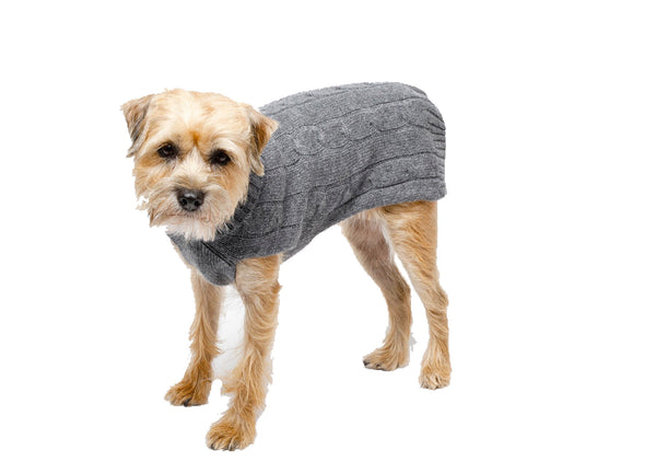 Cashmere | Grey or Baby Pink | Dog Sweater