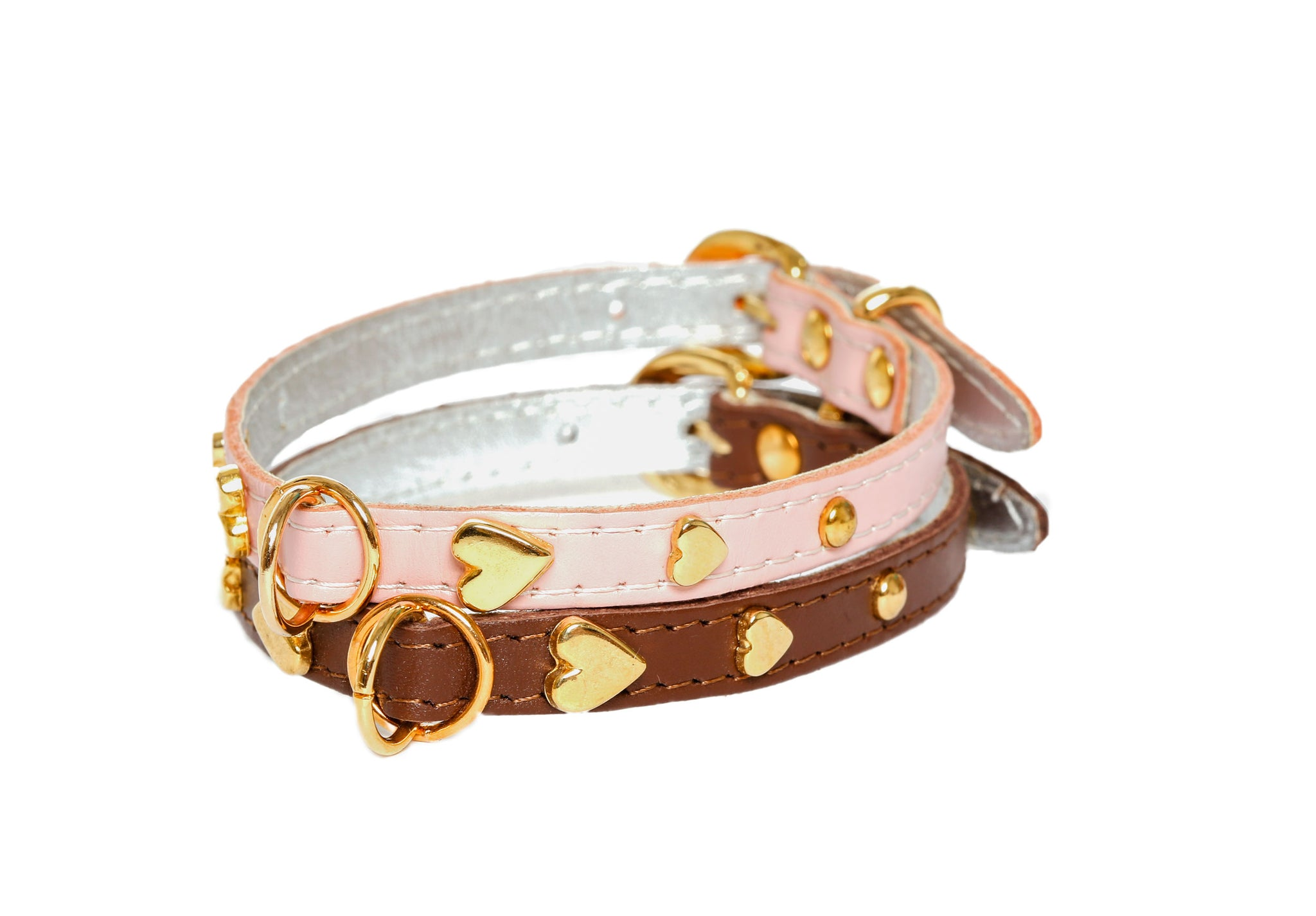 Dog Collars - Soft Leather Jophi Heart - 11 Color Options
