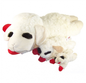 Dog Toy Lamb Chop Squeaker Toy 4 Sizes Canine Styles