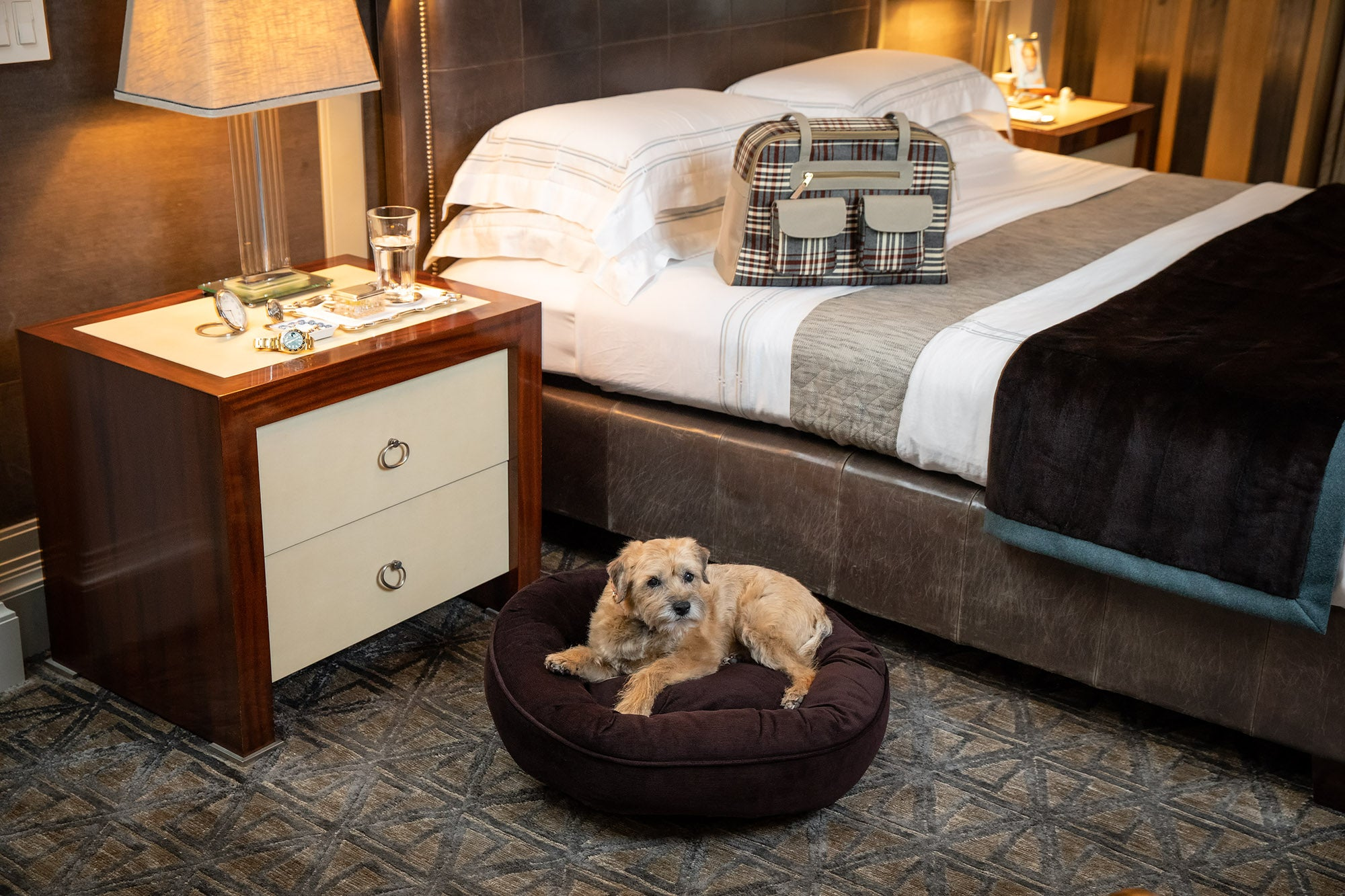 Canine Styles - Corduroy Chocolate Brown or Orange - Dog Bed