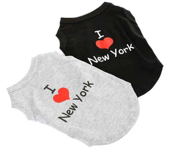 Muscle Tees - I Love New York - Dog Shirt
