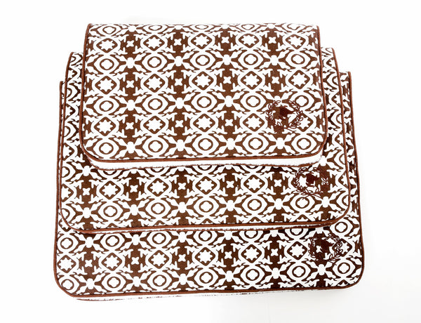 Canine Styles - Crate Mat - Watermill Brown Canvas