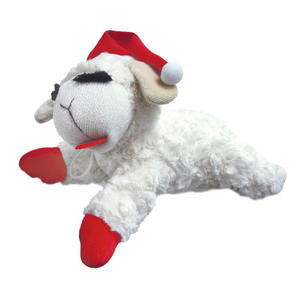 Holiday Lamb Chop Santa - Dog Toy - 2 sizes