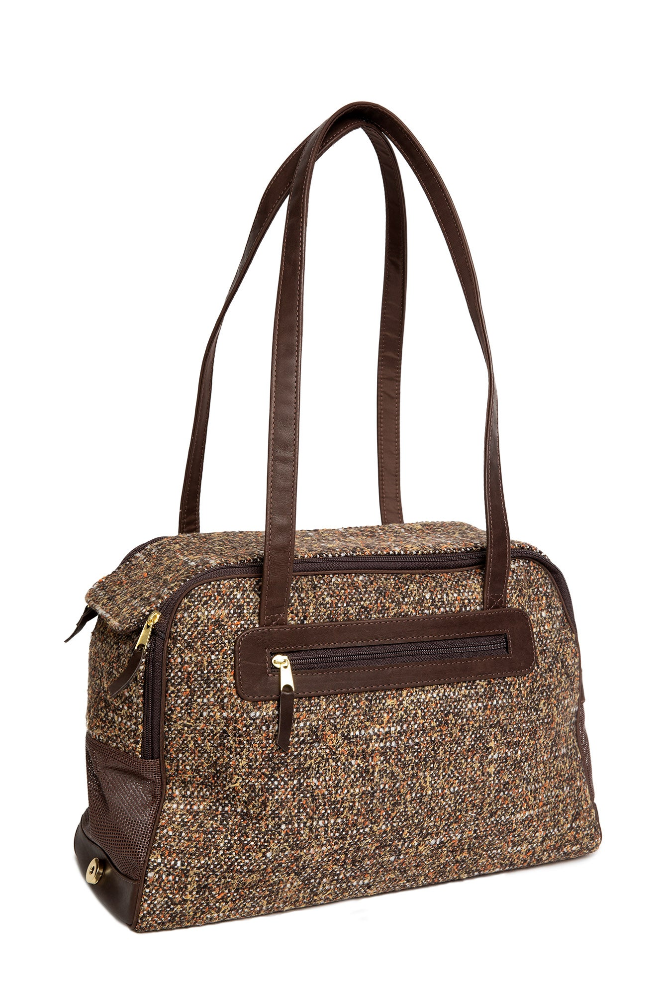 Dog Carrier - Brown Wool - Tweed Carriers - & Coat