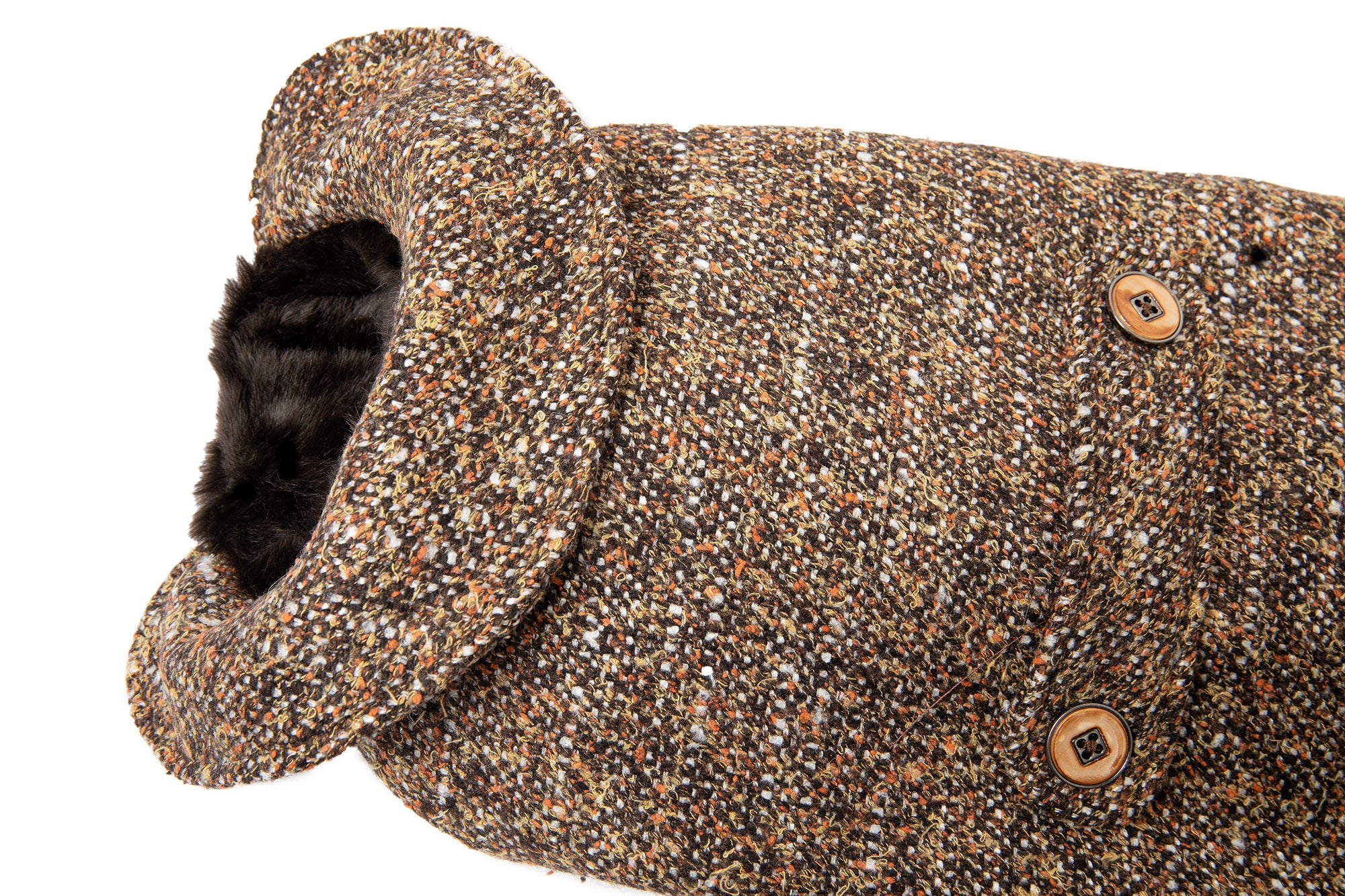 Couture Wool - Dog Coat - Brown Wool Tweed