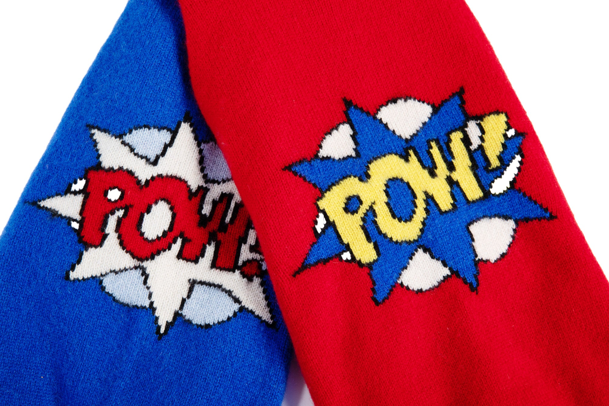 "Cashmere Hooded Sweater - Super Hero ""POW"""