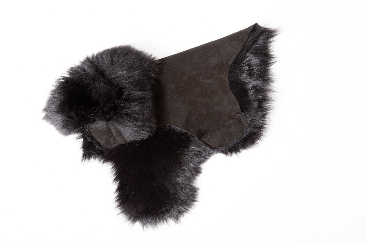 Hand-Cut Shearling Long Fur - Brown - Dog Coat
