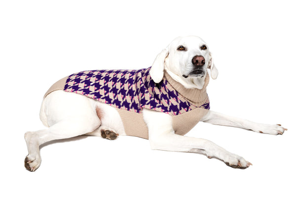 Herringbone His & Hers Wool Sweater -  2 Color Options - Small & Large Dogs