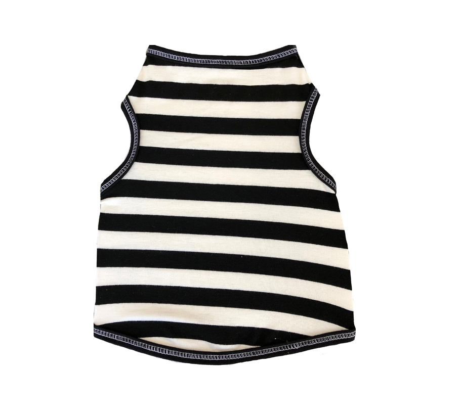 Peppermint Stripe & Black and White Stripe | Dog Shirts