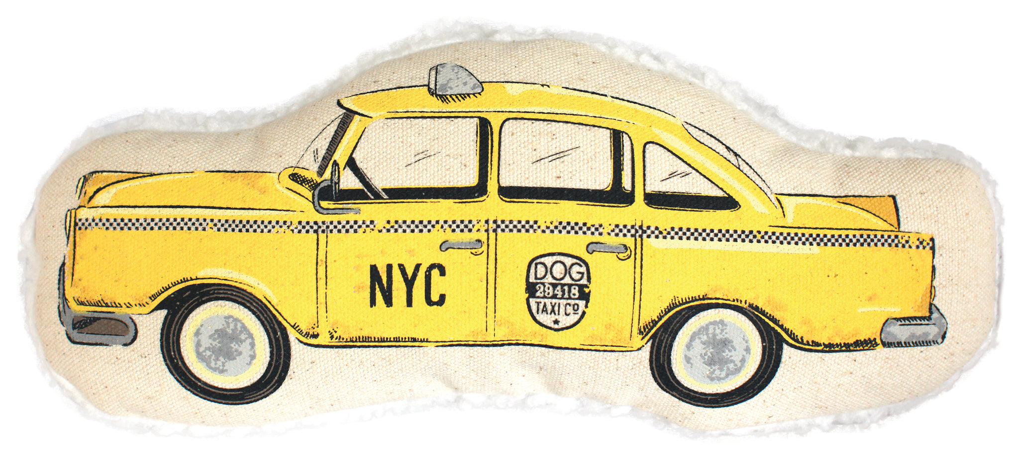 Taxi Cab Toy | Dog Toy | Squeaker Toy