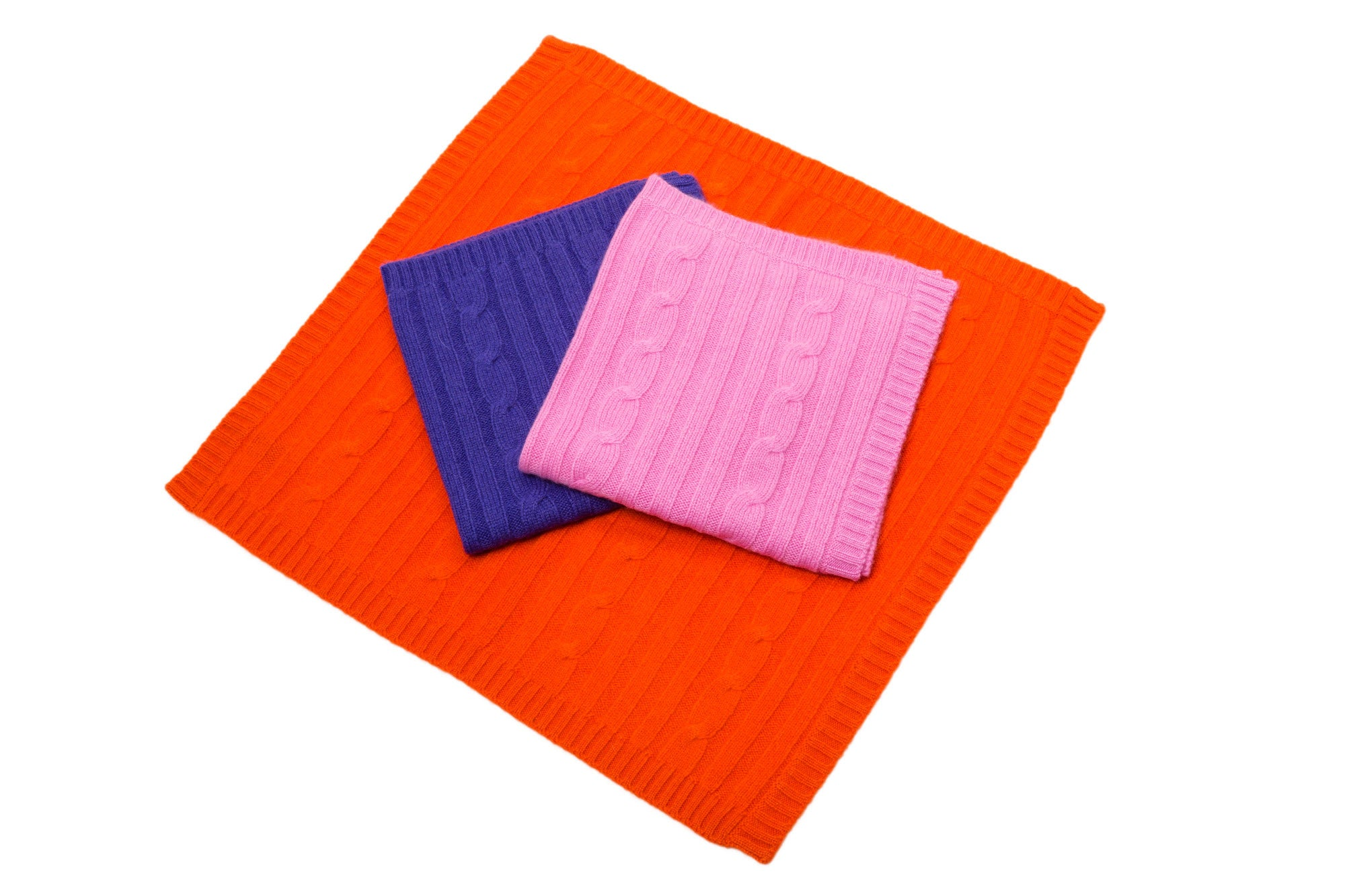 Cashmere Blanket |  Orange, Purple, or Pink | Canine Styles | Dog Blanket