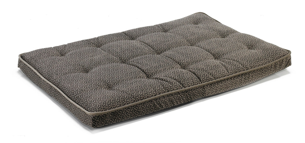 Mattress - Pewter Bones Pattern - Dog Bed - Crate Mat