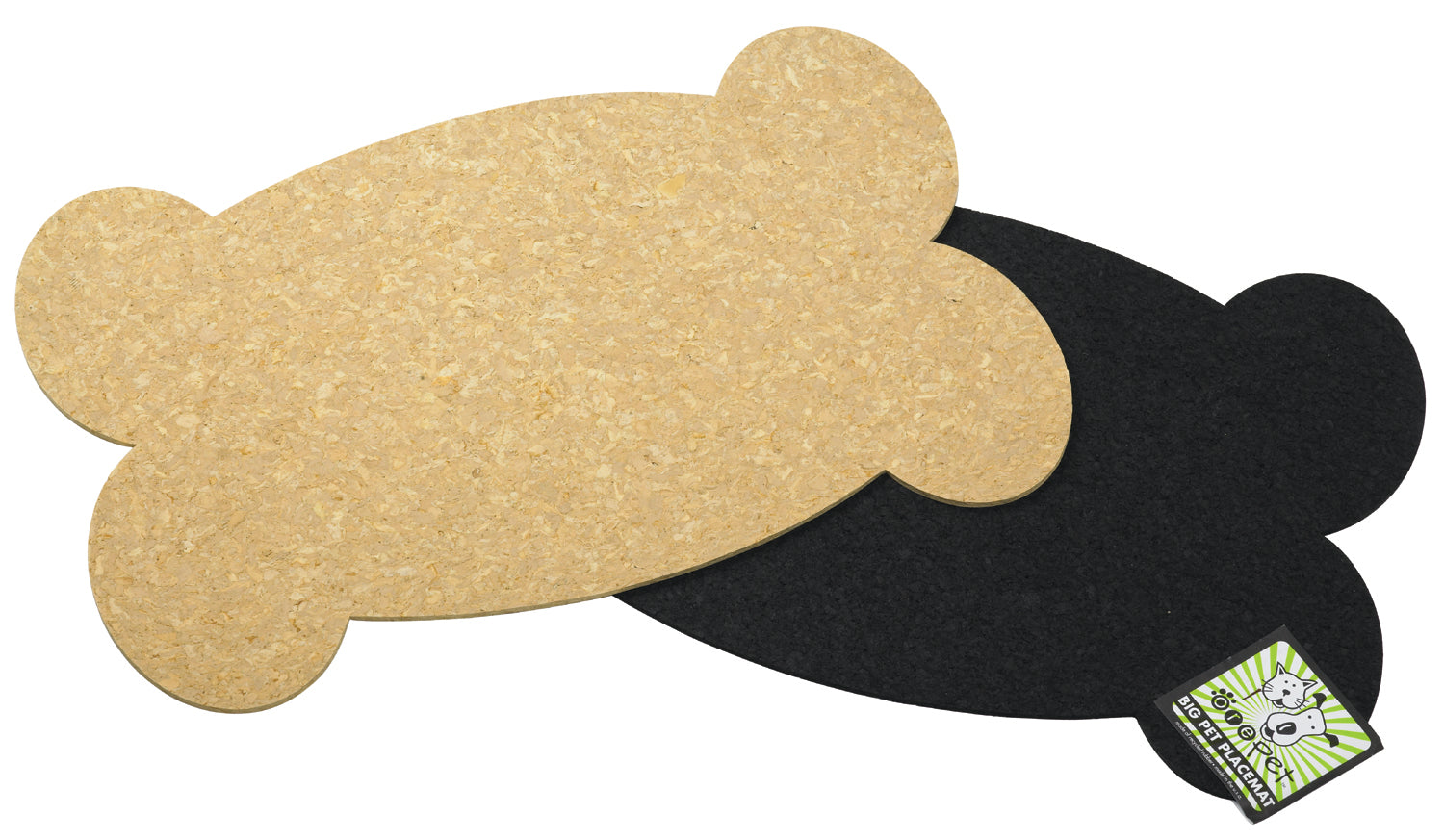 Placemat Jumbo - Cork Bone - Dog Placemat - 2 Color Options