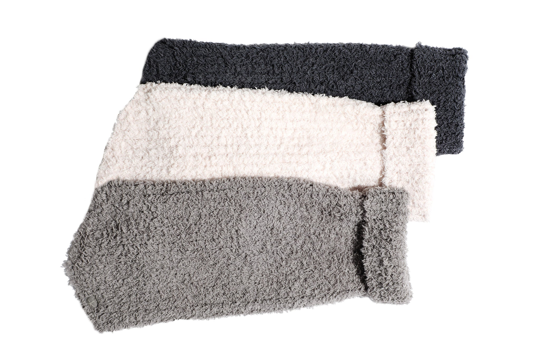 Chenille Rag Dog Sweater - Dark Gray, Light Gray & Pale Pink